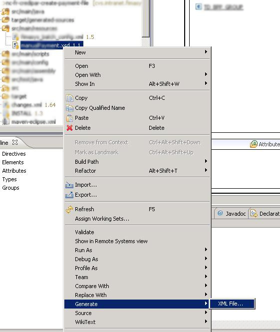 Right Click On The XSD, Choose Generate and Then XML File