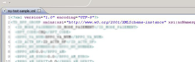 Finish! XML generated