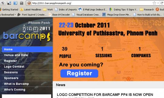 Barcamp Phnom Penh 2011