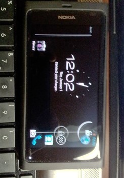 The first photo of the Nokia N9, running Android 4.0 Ice Cream Sandwich