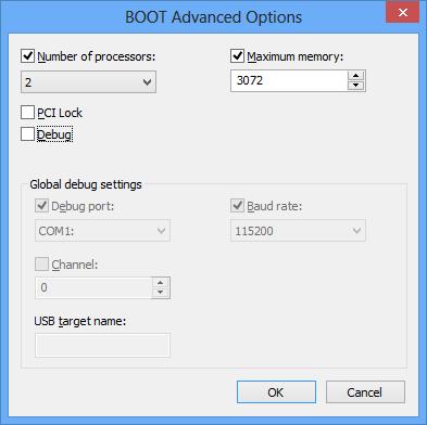 Boot Advanced Option